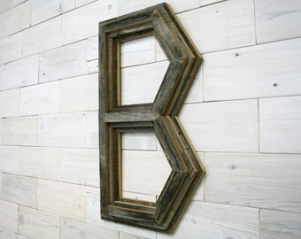 "Barn Wood ""B"" Letter Wall Decor"