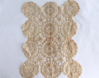 Vintage Handmade Crochet Table Runner