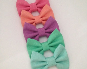 Pastel Spring Easter Rainbow Headband or Clip Set