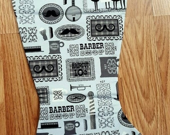 Barber Shop  Christmas Stocking