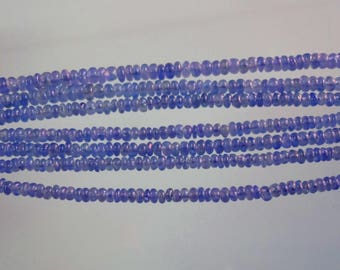 5-inch Natural Blue Sapphire smooth plain beads size 3mm 12cts GW2918