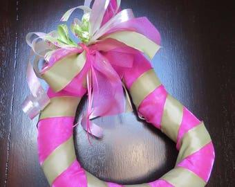 Spring Heart Wreath,  Front Door Wreath, Pink and Green, Valentine's Day, Love, Front Door Decor, Pink Wreath, Green Wreath, Summer