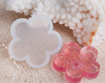 3 Silicone Resin Mold  FLOWER 31 MM - Flower Shaped Mold - Easy Release