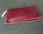 Medium phone wallet, burgundy
