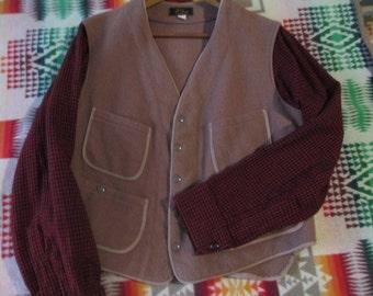 One vintage 1950 LL BEAN vest-jacket