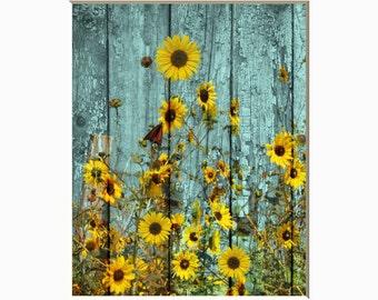 sunflower decor etsy. Black Bedroom Furniture Sets. Home Design Ideas