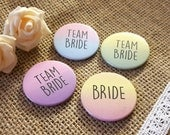 Hen Do / Wedding / Team Bride / Bride Tribe Badge (A Set) Gradient Quirky colours