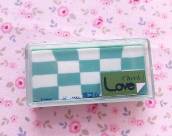 Eraser Check Love Lemon Japan Vintage 80s