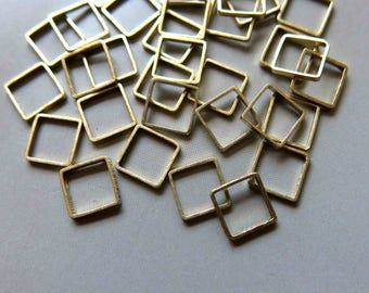 200pcs Raw Brass Square Rings , Findings 7mm - F316