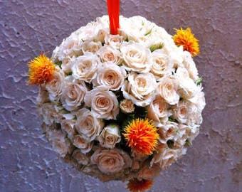Bouquets with fresh flowers