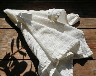 Set of 4 reusable flour sack cotton napkins - Volcano Goods