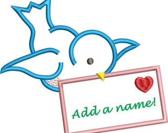 Bird & Envelope Applique