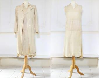 1920's Cream Silk Dress Suit