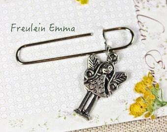 paperclip Elf silver vintage style paper clip bookmark Elf