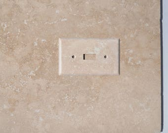 Travertine Inspired Switch Plate and Outlet Covers