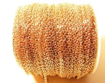 D-02571 - 1m Brass Chain rosegold