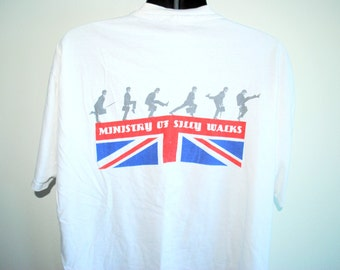 80's Monty Python's Flying Circus Ministry Of Silly Walks Rare Vintage PBS Era Classic BBC Sketch Comedy Series Promo T-Shirt