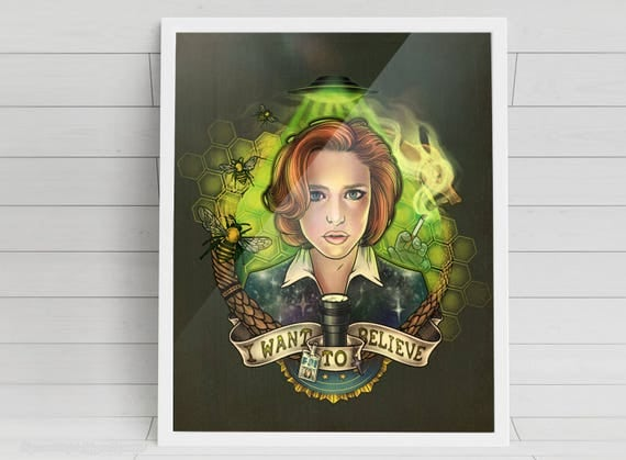 I Want to Believe - signed Poster Art Print - 11x14