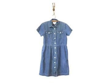 Sweet Denim Babydoll Dress