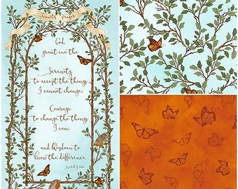 Serenity Prayer Cotton Fabric by Quilting Treasures! [Choose Your Cut Size]