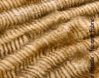 Faux Fur Brown Striped Pheasant - Feather Wave - Fabric - Shag, Crafts, Sewing, Baby & Pet  Photo Props