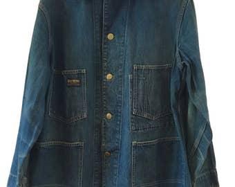 Vintage Osh Kosh B'Gosh Denim Chore Coat Workwear Jacket L