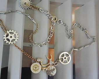 "Jewelry designer steampunk. Necklace ""Tour de France""."