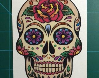 Sugar Skull #1 Decal/Sticker 3.5X5
