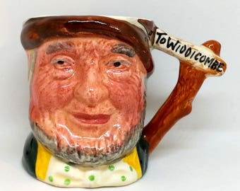 Lancaster Sandland Small Pottery Stein, Hand Painted Character Mug, Uncle Tom Cobleigh