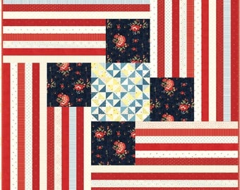 Four Flags Quilt Pattern by Minick and Simpson - DOWNLOAD
