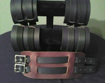 Leather 2 Buckle Gauntlet
