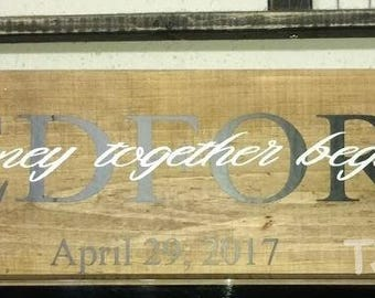 A Beautiful Wedding / Bridal gift , Personalized with name
