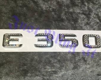 MERCEDES BENZ Crystal Emblem Badge E350 made with Swarovski Crystal