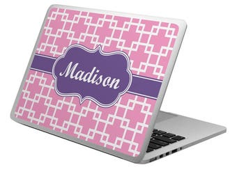 Linked Squares Laptop Skin - Custom Sized (Personalized)