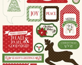 Carta Bella Have a Merry Christmas Chipboard Accents