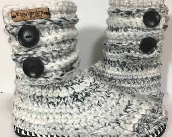 Made to order* Flip Flop boots, crocheted Slippers, crocheted boots, Slippers, indoor/outdoor slippers