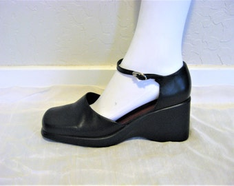 90s Minimalist Leather Shoes 7 M