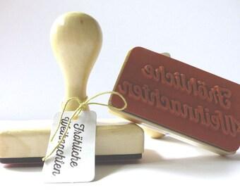 Wood stamps Merry Christmas big