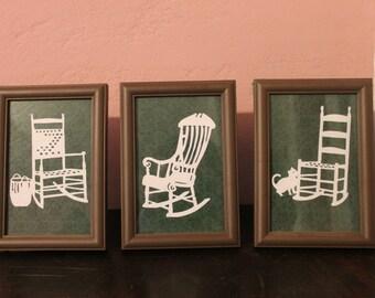 Papercutting:  Rocking Chairs