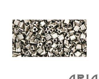 ANTIQUE SILVER (711): 11/o Toho Japanese Triangle Seed Beads (10 grams)