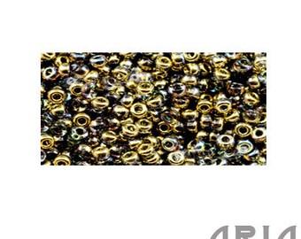 CRYSTAL GOLDEN RAINBOW (55023): 11/o Miyuki Hybrid Japanese Seed Beads (10 grams)