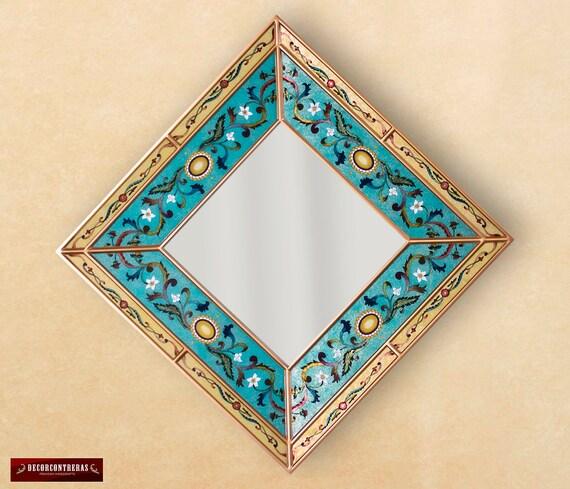 Mirrored Star Wall Decor: Star / Square Wall Mirror Decorative 23.6 By DECORCONTRERAS