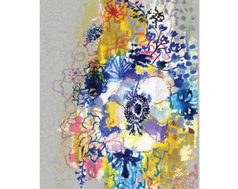Big Blue Anemone - A4 limited edition art print  | Made in Australia
