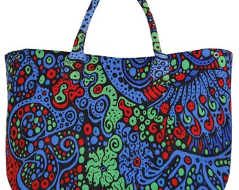 Trippy Psychedelic Pattern Tote Bag