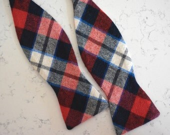 free swatchesred plaid flannel bow tie/bow tie for men