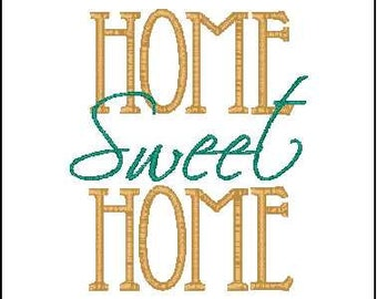 Home sweet home embroidery | Etsy