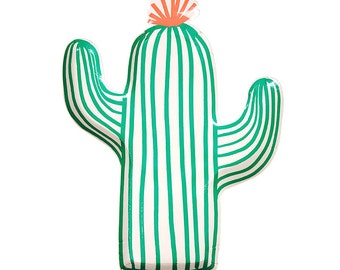 Cactus Paper Plates (Set of 12) - Meri Meri Party Plates