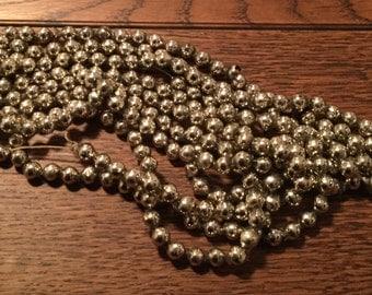 Vintage silver Mercury glass bead garland