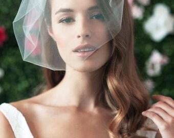 MARIE MEDIUM - birdcage veil, bird cage veil, blusher veil, tulle bridal birdcage veil, tulle veil, small blusher, small tulle birdcage veil