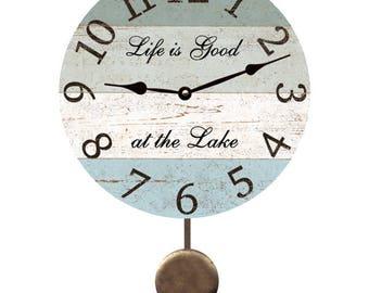 Four Color Lake Pendulum Clock